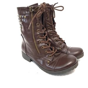 G by Guess Blast Studded Combat Boots